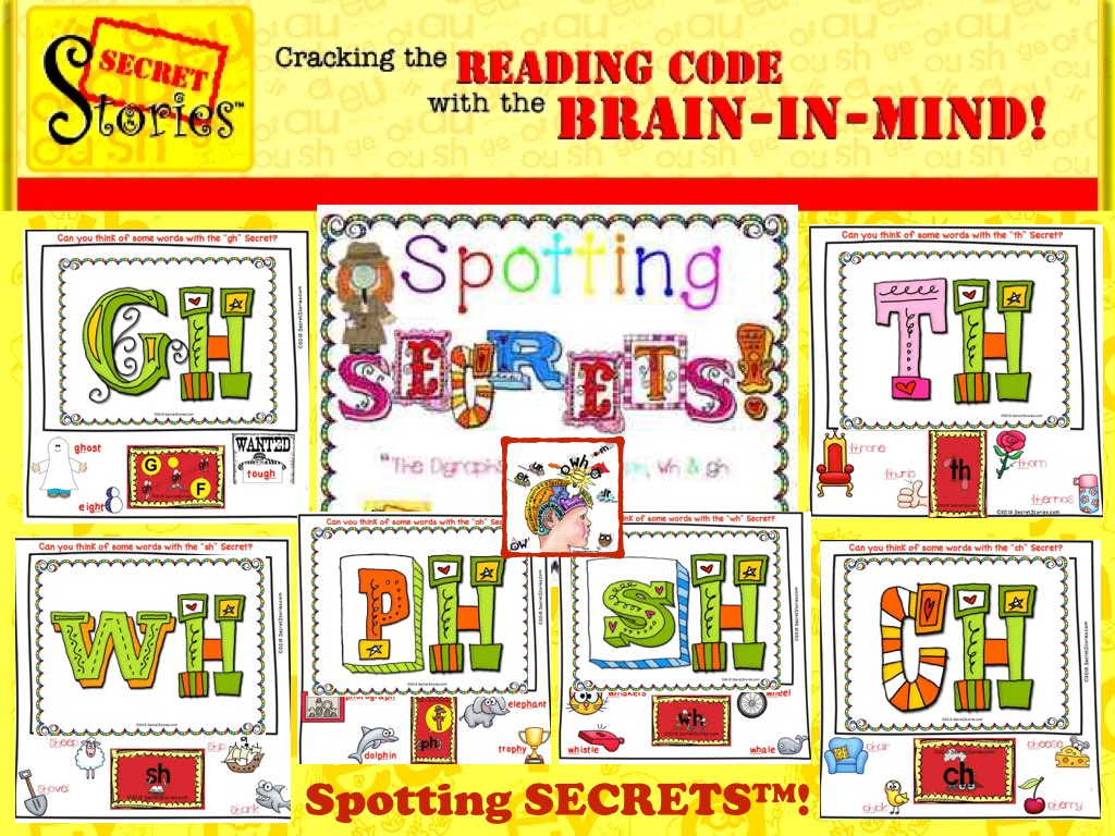 Spotting Secret Stories Phonics Secrets— teaching digraphs