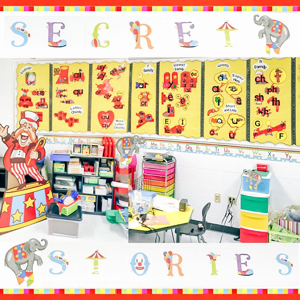 Secret Stories phonics posters in circus shapes
