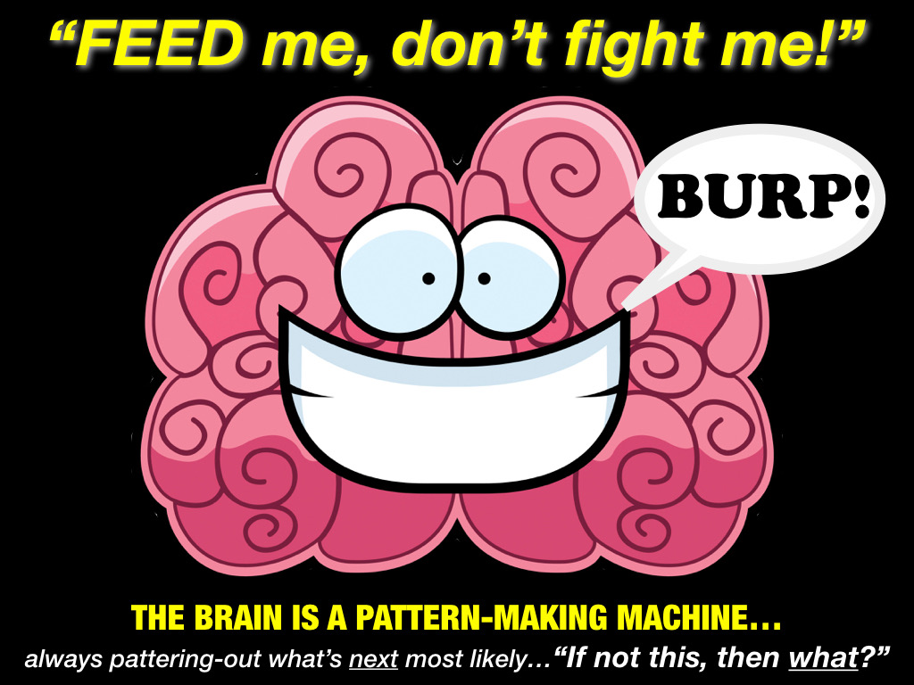 brain is a pattern making machine