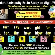 Stanford Brain Study on Sight Words