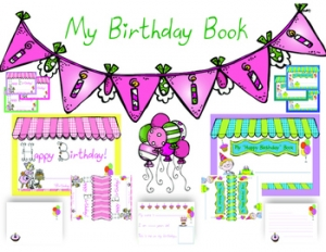 FREE Class Birthday Book Writing Pack!