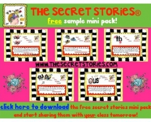 "Free Secret Stories Phonics Poster Anchors ""Appetizer"" Set"