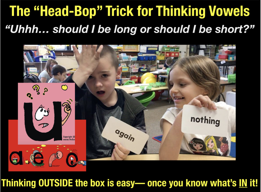 thinking vowels head bop