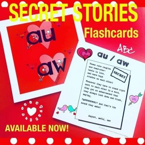 Secret Stories Phonics Flashcards