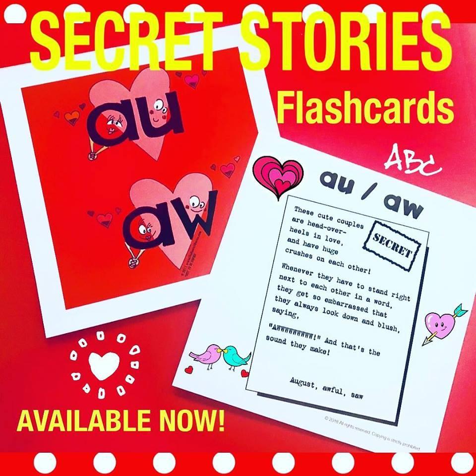 Secret Stories Phonics Flashcards