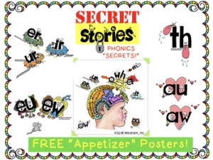 Free Phonics Posters by Secret Stories