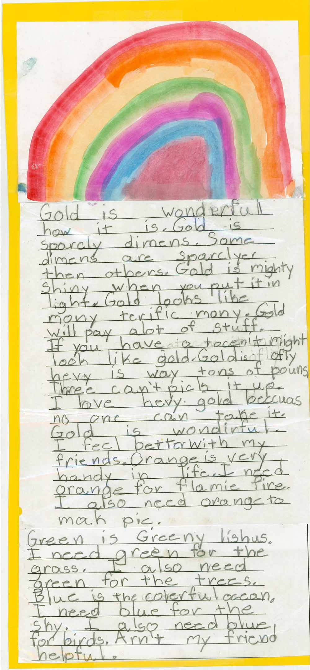 First Grade Writing
