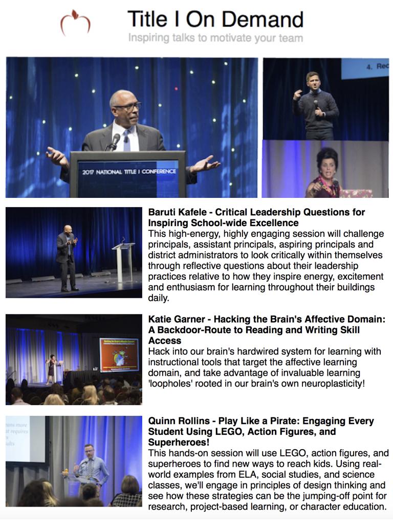 Katie Garner Keynote Education Speaker National Title I Conference
