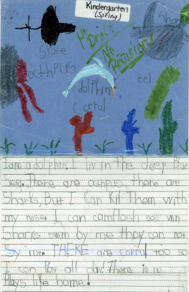 Kindergarten Writing spring