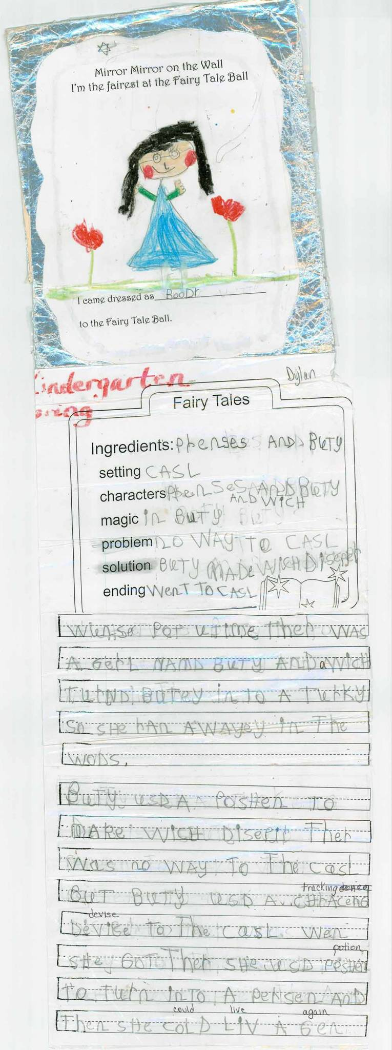 Kindergarten Fairy Tale Writing