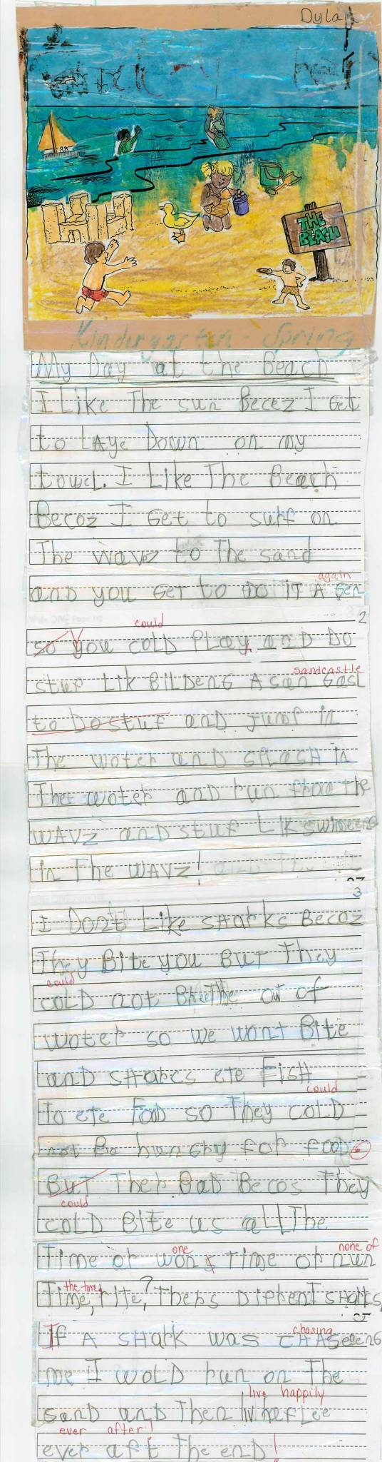 Kindergarten Writing with Secret Stories- Spring
