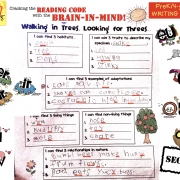 prek writing sample