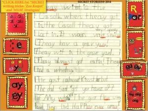 Kindergarten Writing Sample
