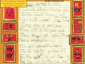 Kindergarten Writing Sample