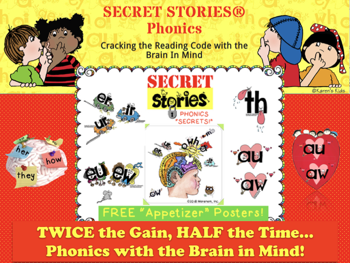 Free Secret Stories Phonics Posters Sampling Set