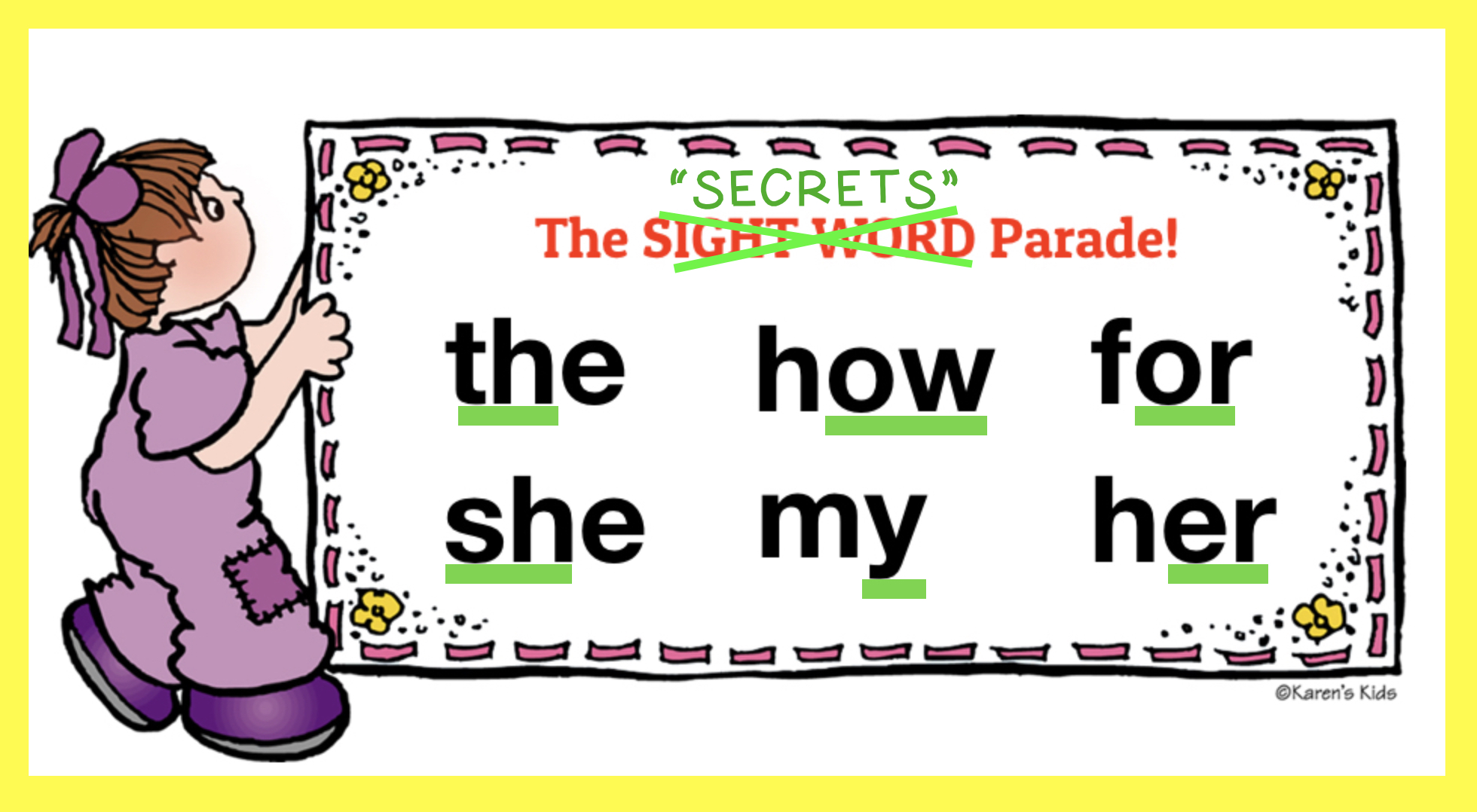sight word don't work