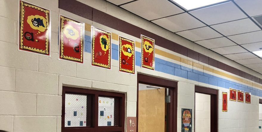 Secret Stories Phonics Posters in the Hallways
