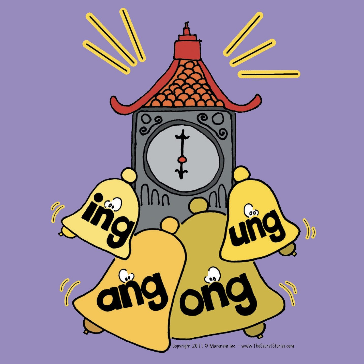 Secret Stories Phonics Posters ING, ANG, ONG, UNG