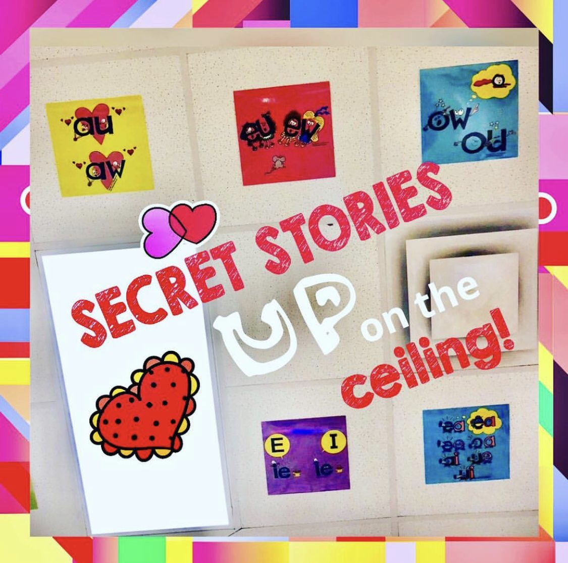 Secret Stories Decorative Squares Phonics Posters