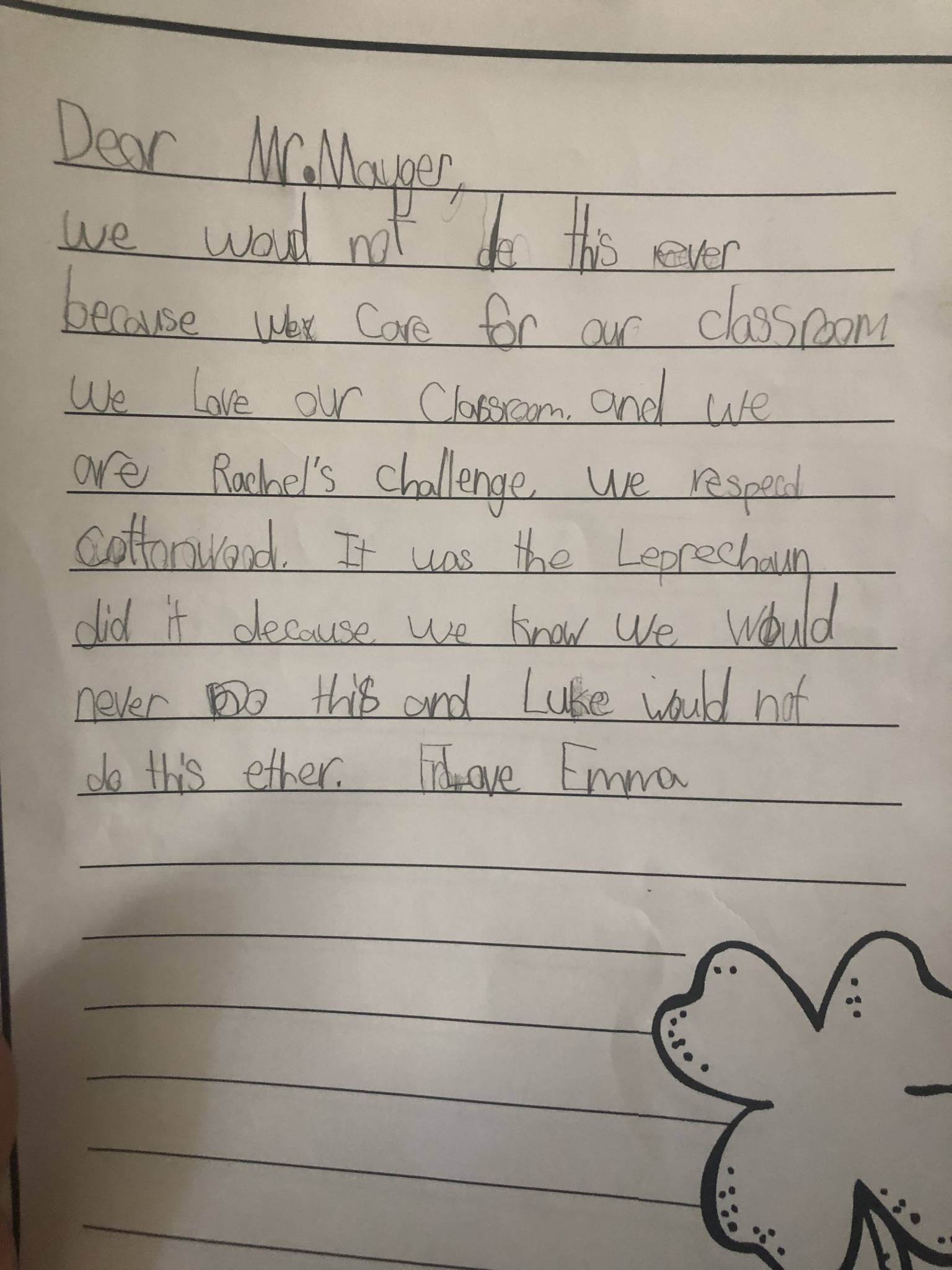 First Grade Persuasive Writing