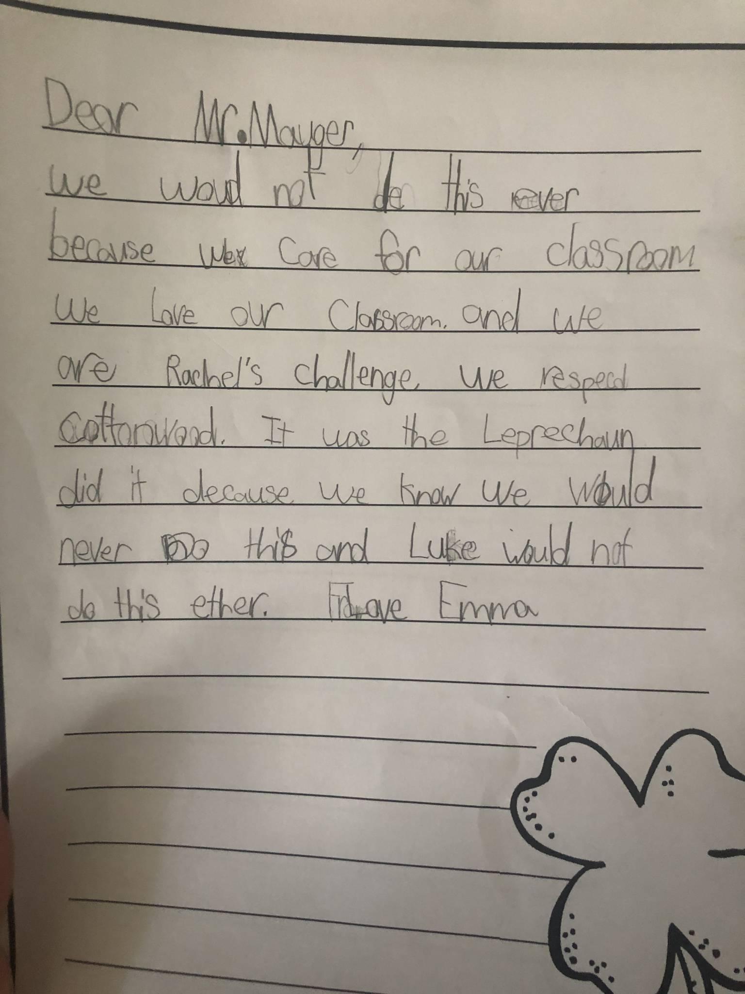 First Grade Persuasive Writing
