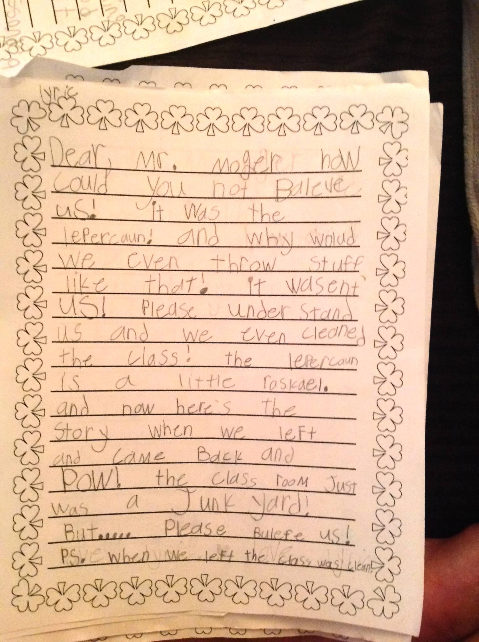 Teaching Persuasive Writing in First Grade