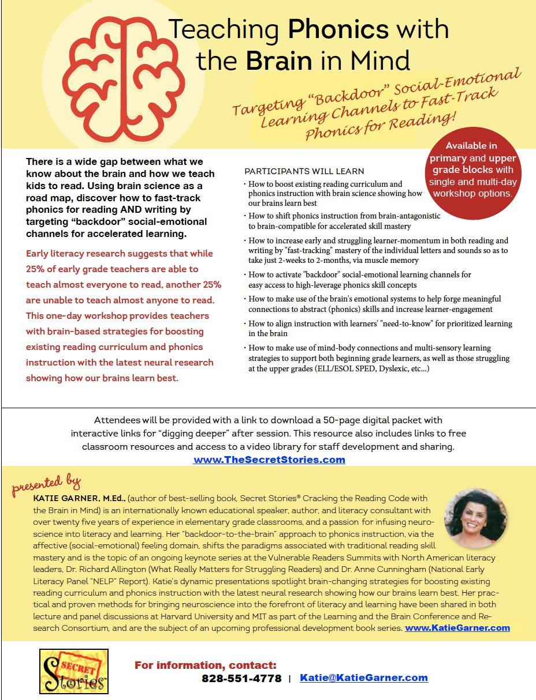Phonics Workshop - Katie Garner Brain Based Science of Reading