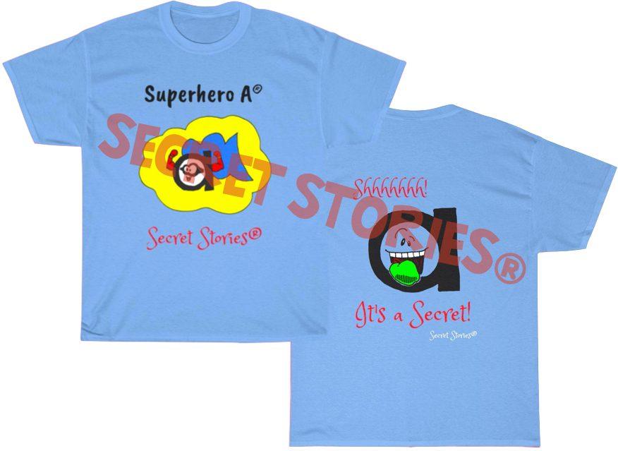 superhero vowel a phonics shirt