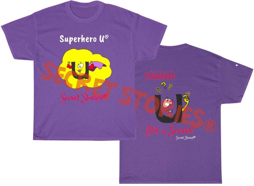 superhero vowel u shirt